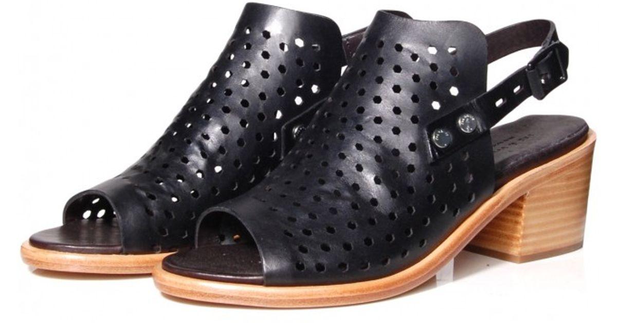 938b7b3af2b Lyst - Rag   Bone Wyatt Mid Heel Sandal In Black in Black