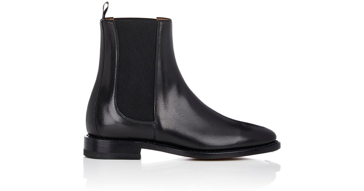 b4a8a312b84 Thom Browne Black Women's Leather Chelsea Boots