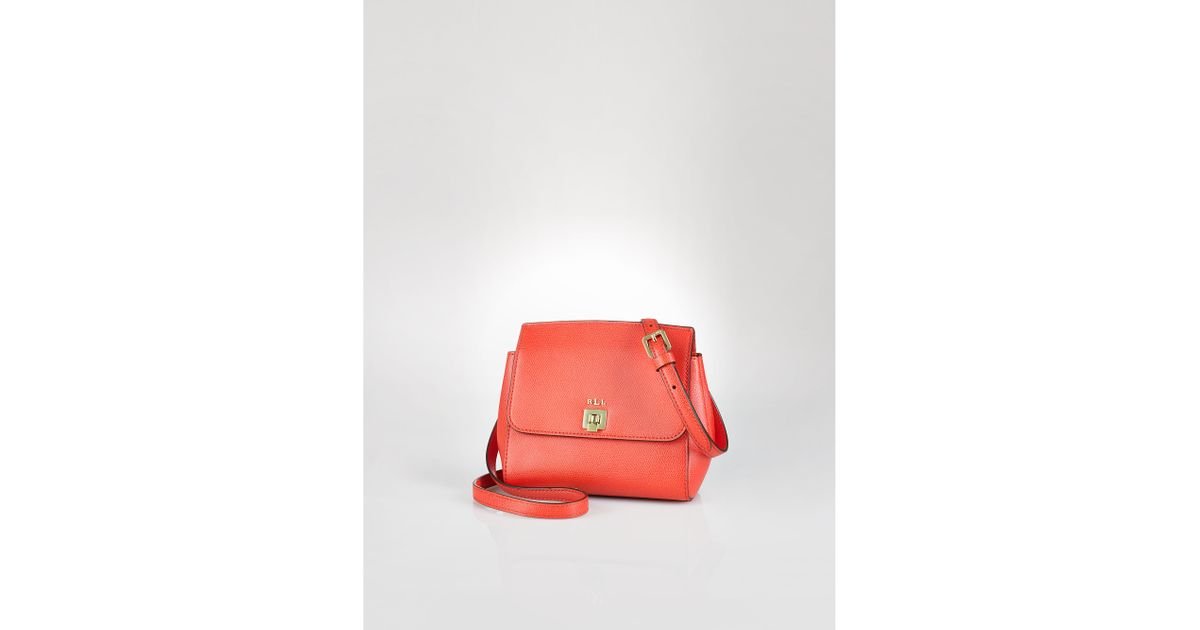 ef777262727f ... black c38d3 277ee order lyst ralph lauren whitby leather cross body bag  in orange b40de 5de90 ...