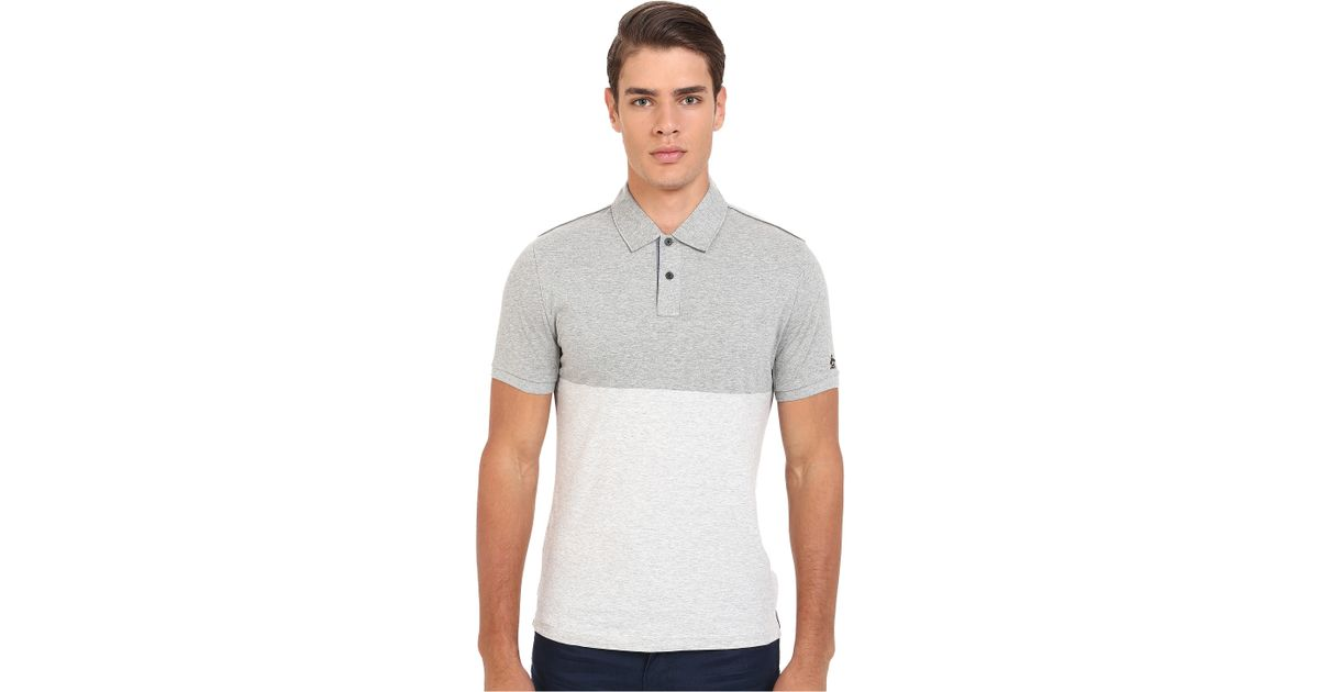 ef3e2f31b7a9c Lyst - Original Penguin Short Sleeve Vintage Gym Rowing Color Block Polo  Jersey in Gray for Men
