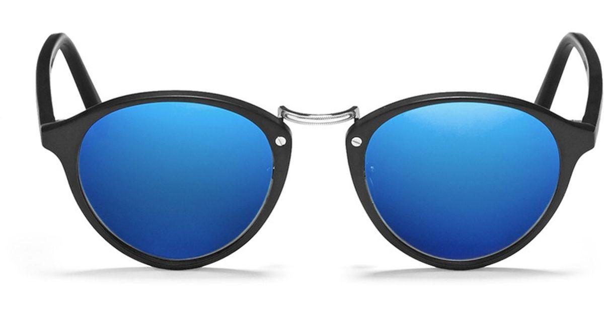 7e137dd8a7d Spektre  audacia  Matte Acetate Mirror Sunglasses in Blue - Lyst