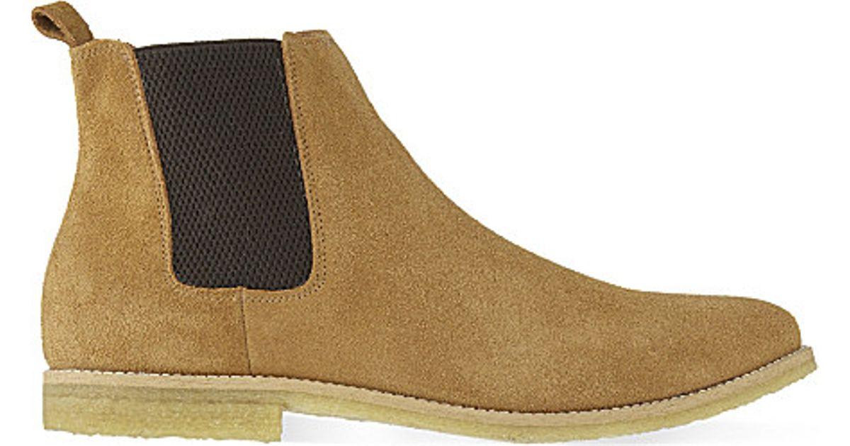 cf659c54b98 KG by Kurt Geiger Natural Reggie Suede Chelsea Boots for men