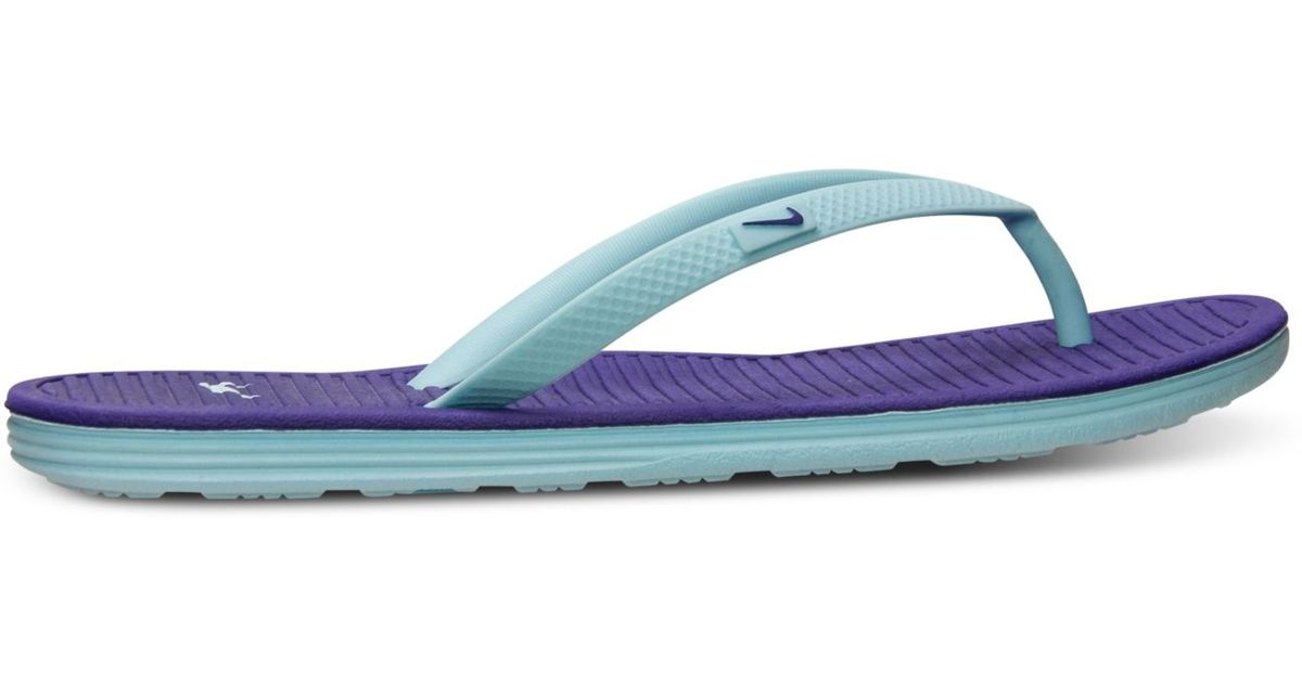 Lyst - Nike Women S Solarsoft Thong Ii Sandals From Finish Line in Purple a29cb0d92