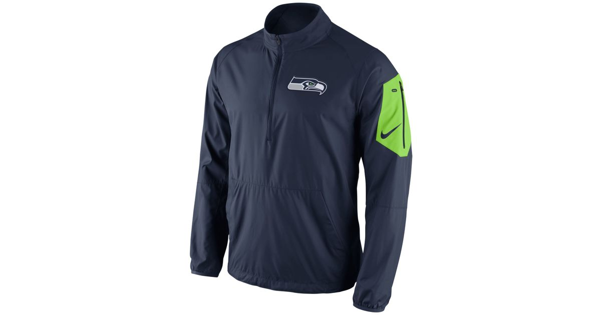 99fb8057 Nike Blue Men's Seattle Seahawks Lockdown Half-zip Jacket for men