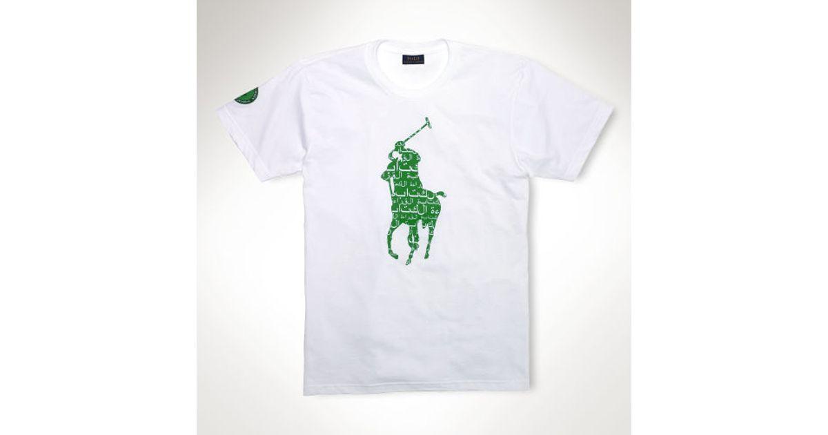 White For Tshirt Arabic Polo Ralph Literacy Lauren Men n0wPOk