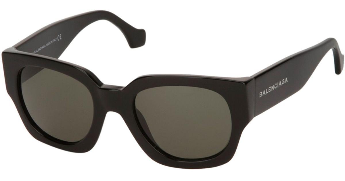 Balenciaga Square Frame Sunglasses in