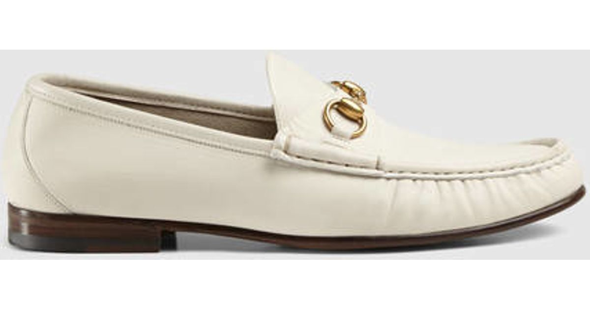 44604c77753 Lyst - Gucci 1953 Horsebit Leather Loafer in White for Men