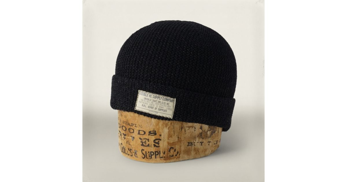 cc3623bb7bb Lyst - RRL Knit Watch Cap in Black for Men
