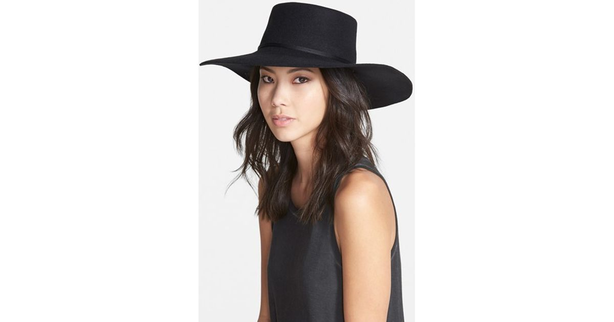 88411350cd Brixton Black 'buckley' Floppy Wool Hat