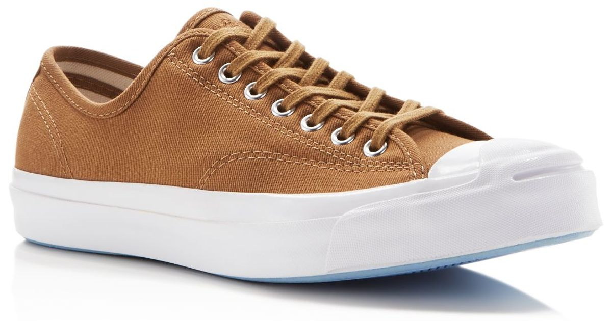 31428a72c15f Lyst - Converse Jack Purcell Signature Jungle Cloth Sneakers in Brown for  Men