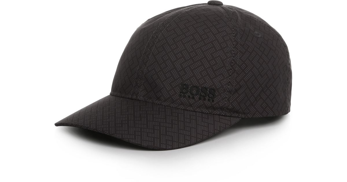 a2ead670bf0 BOSS Green Baseball Cap With Graphic Print   brick Cap  in Black for Men -  Lyst
