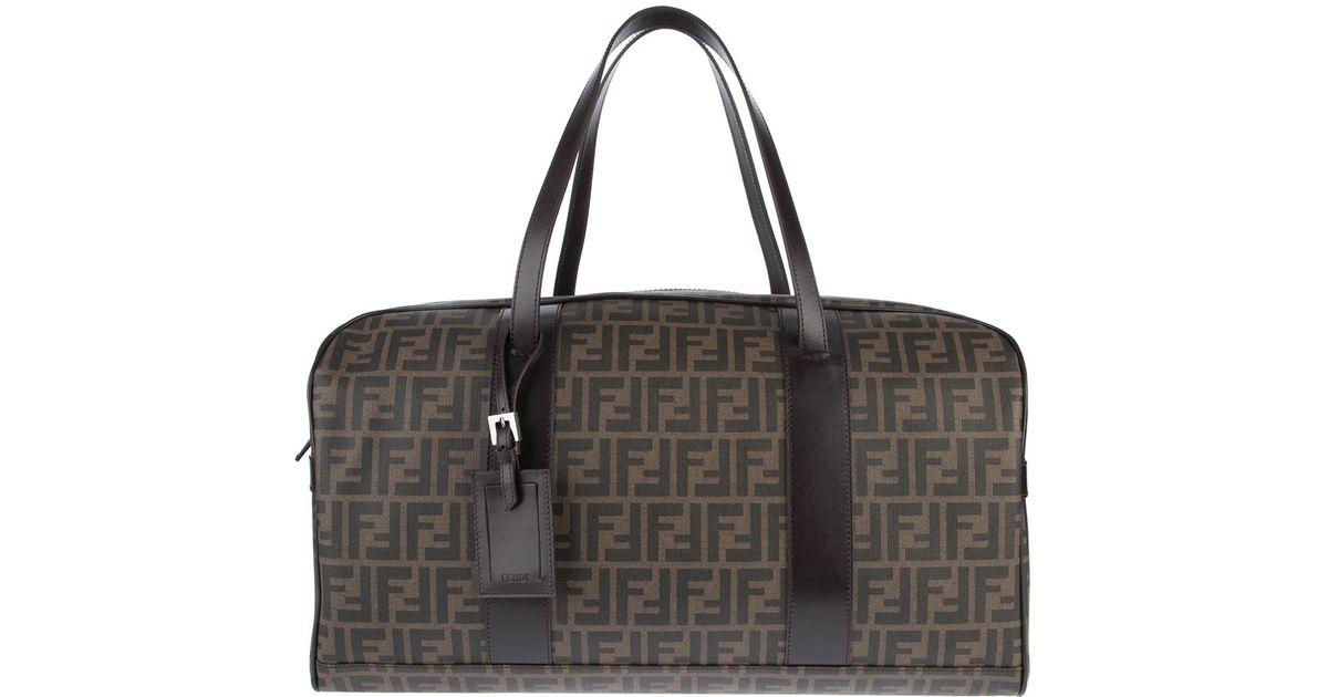 179c3700a27 Fendi 'zucca' Weekender Bag in Brown for Men - Lyst