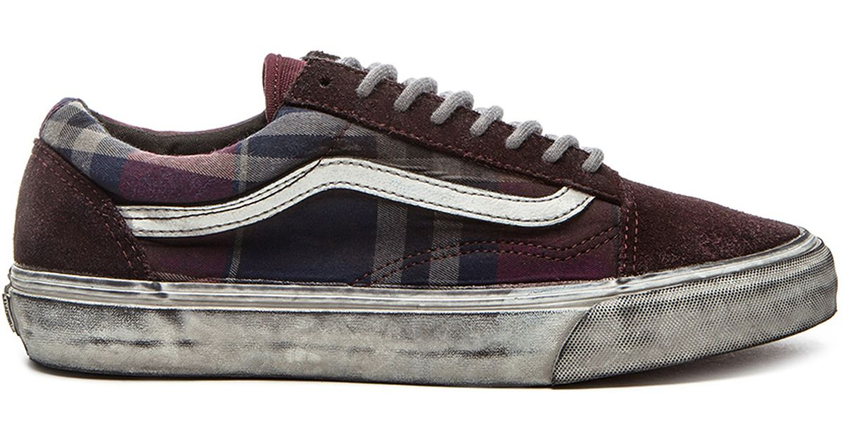 75cd7e3b9859 Lyst - Vans California Old Skool Reissue Distressed Sneakers for Men