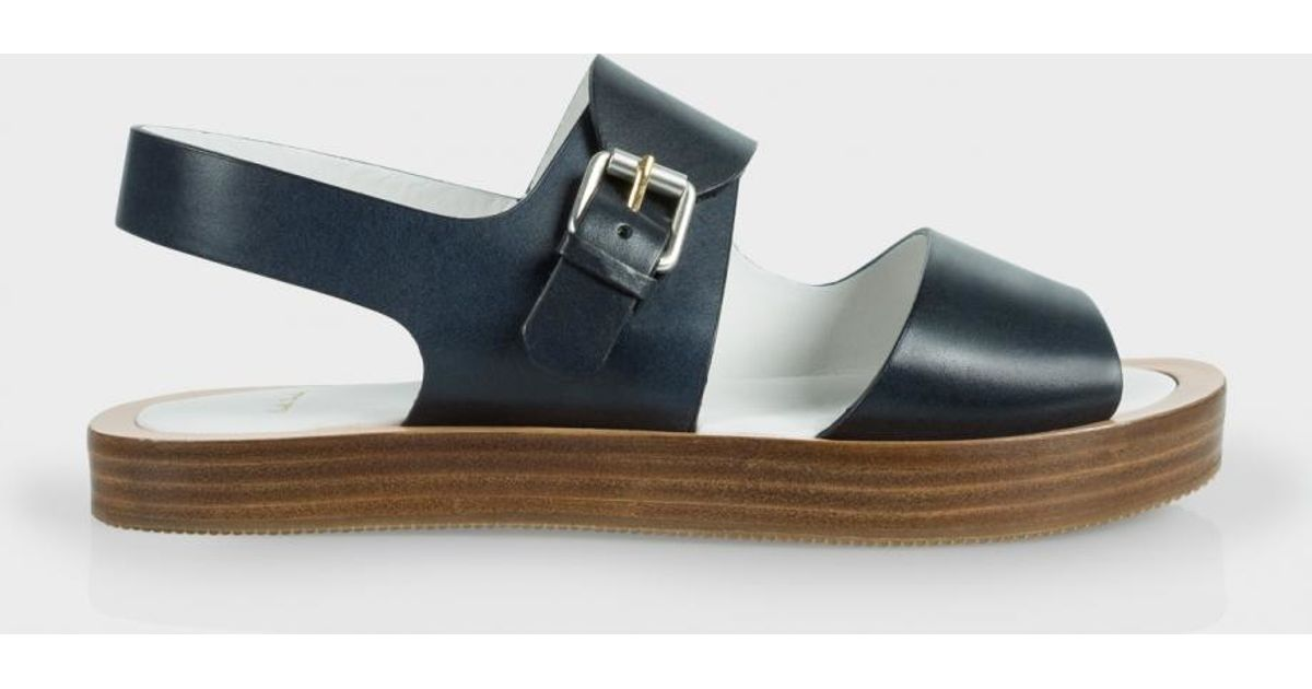 6a5a63d5dbad0a Paul Smith - Blue Ilse Leather Sandals - Lyst