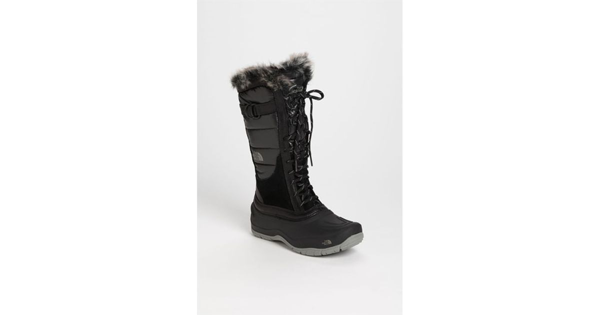 4e5fbd617 The North Face - Black Shellista Quilted Snow Boots - Lyst