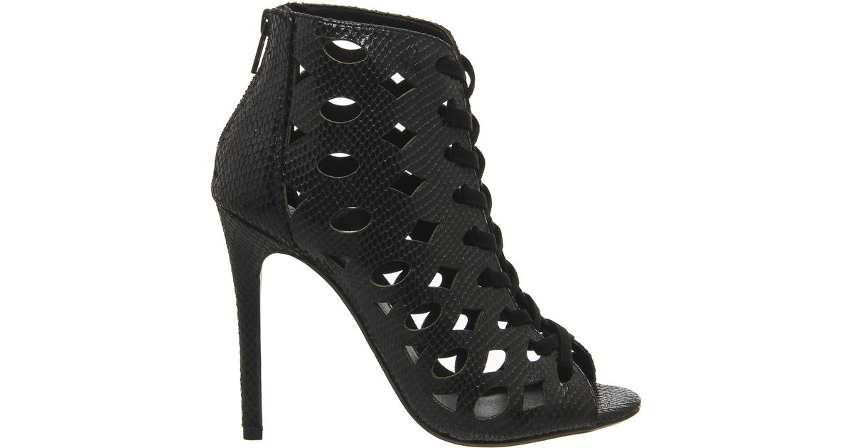 office tycoon cut out shoe boots in black lyst