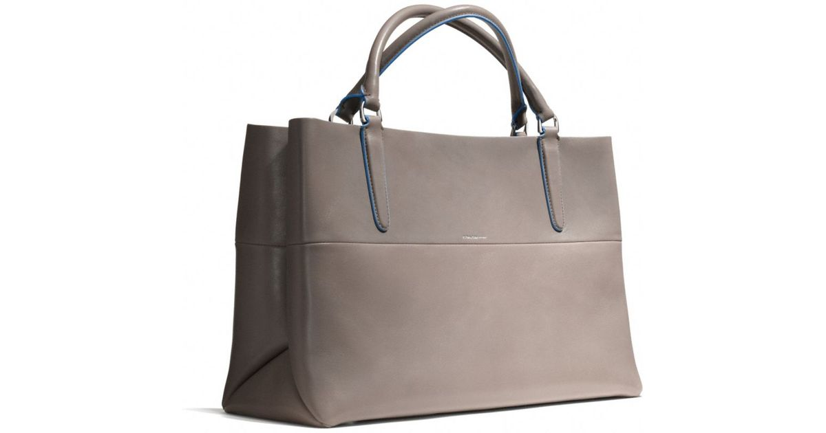 2e9d29cdeb04 ... coupon for lyst coach the eastwest town tote in retro glove tan leather  in gray aa696