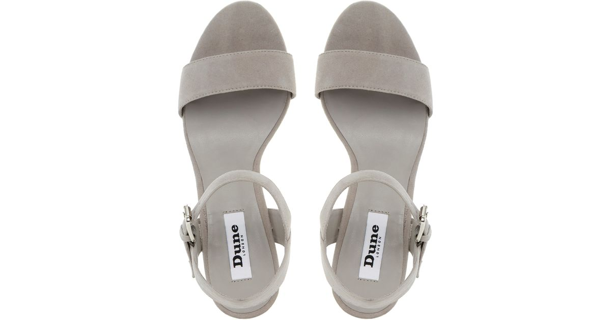 1d1e3f9185f0 Dune Harah Jewelled Block Heeled Sandals in Gray - Lyst