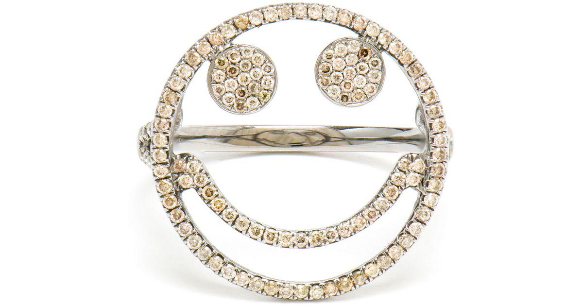 diamond smiley ring Rosa De La Cruz QiNtDH