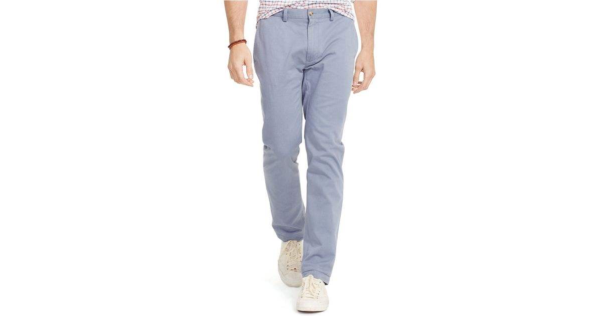 polo ralph lauren slim fit bedford chino pants in blue for. Black Bedroom Furniture Sets. Home Design Ideas