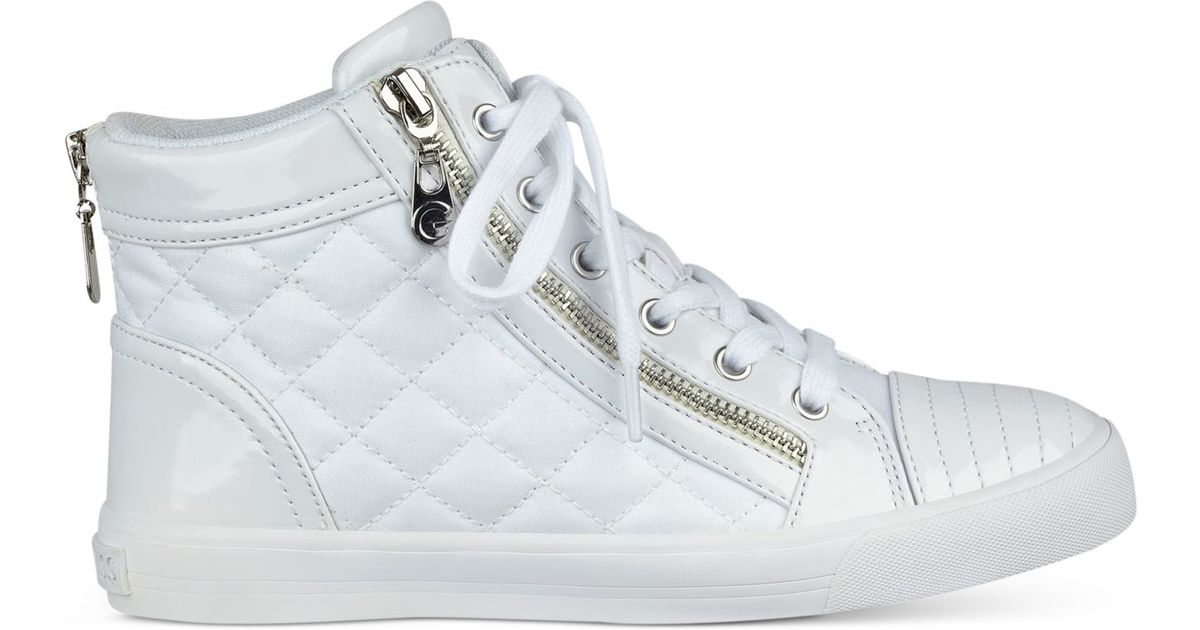 Guess Orily Quilted High-top Sneakers