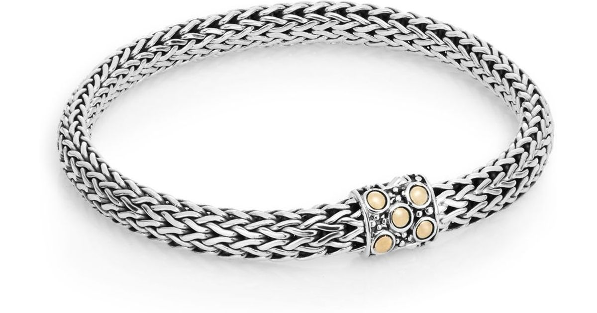 John Hardy Small Sterling Silver Oval Chain Bracelet i0y2b4jwM