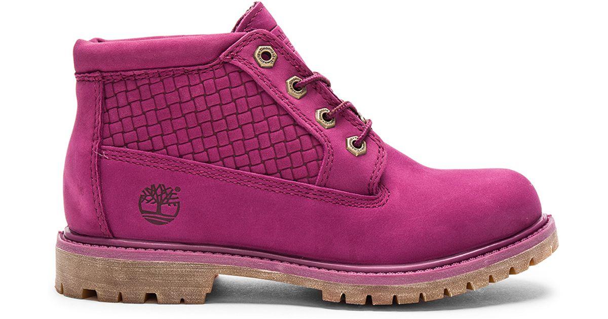 en venta en línea calidad primero fina artesanía Timberland Suede Nellie Chukka Double Waterproof Boot in Magenta ...