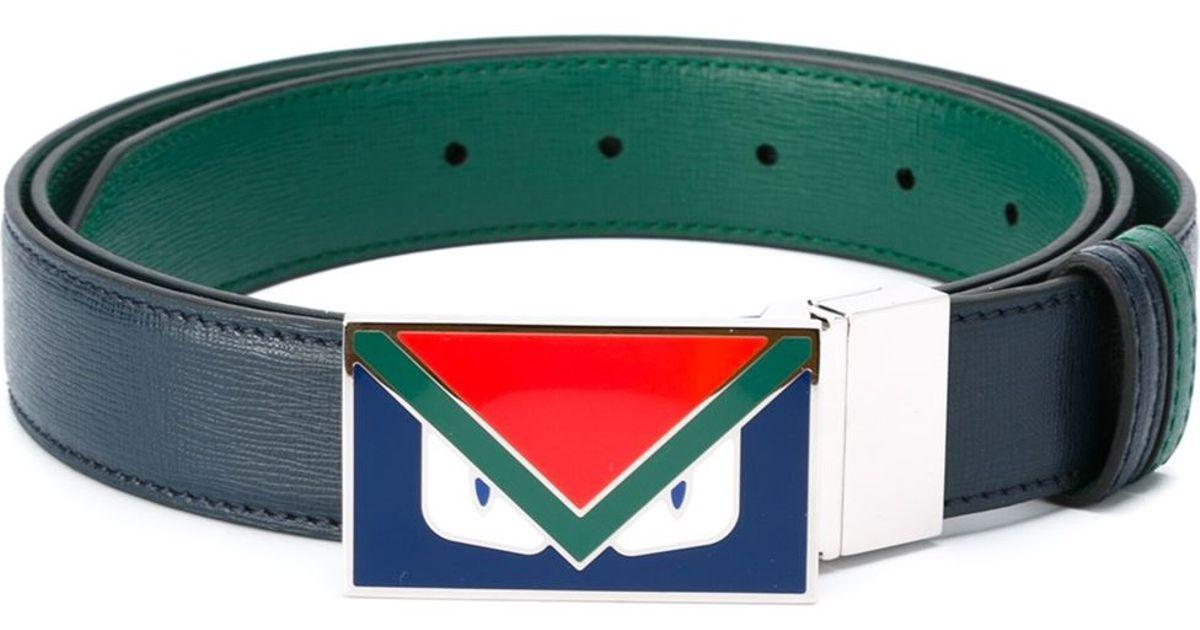 f56e5ddaed41 ... official lyst fendi bag bugs belt in blue for men 87af7 e1b50