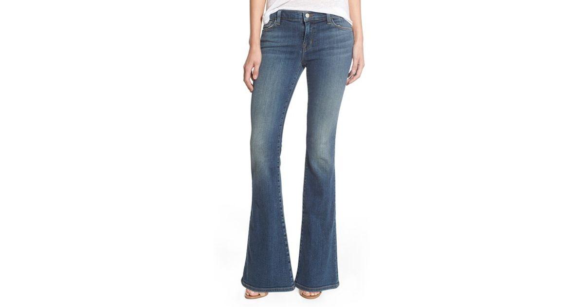 J brand u0026#39;sneakeru0026#39; Flare Jeans in Blue | Lyst