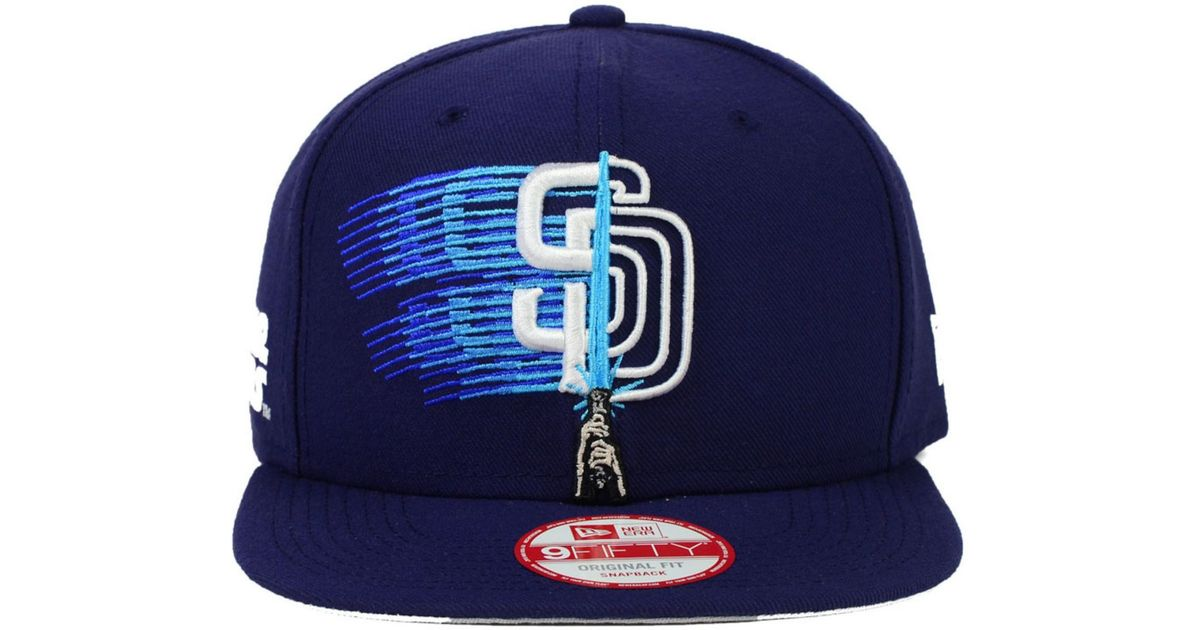 premium selection 23772 24f9f ... store lyst ktz san diego padres star wars logoswipe 9fifty snapback cap  in blue for men ...