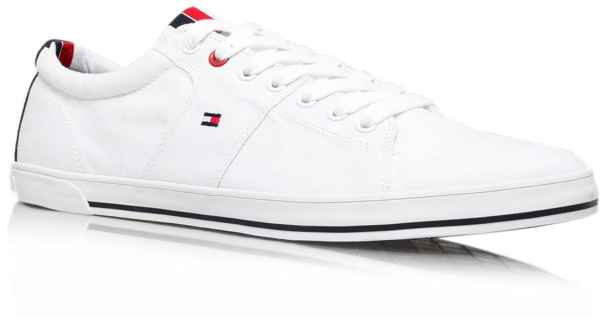 26c9cc3c3cbe2b Tommy Hilfiger Harry 5d Plimsoll in White for Men - Lyst