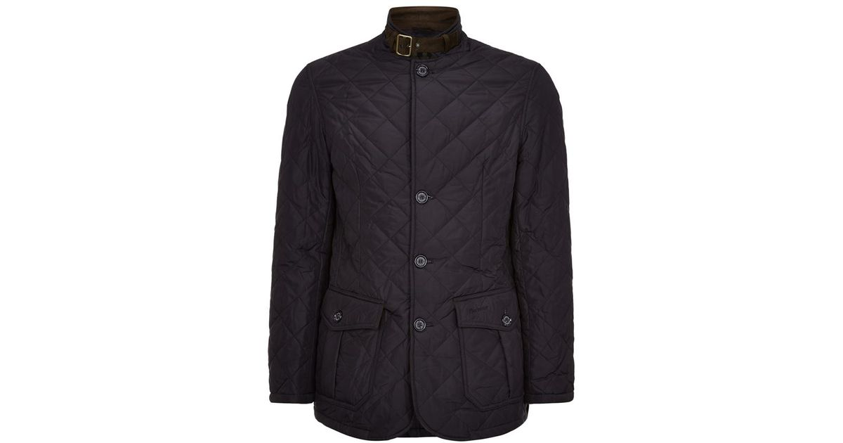 Barbour Quilted Lutz Jacket in Black for Men | Lyst : barbour quilted lutz jacket - Adamdwight.com