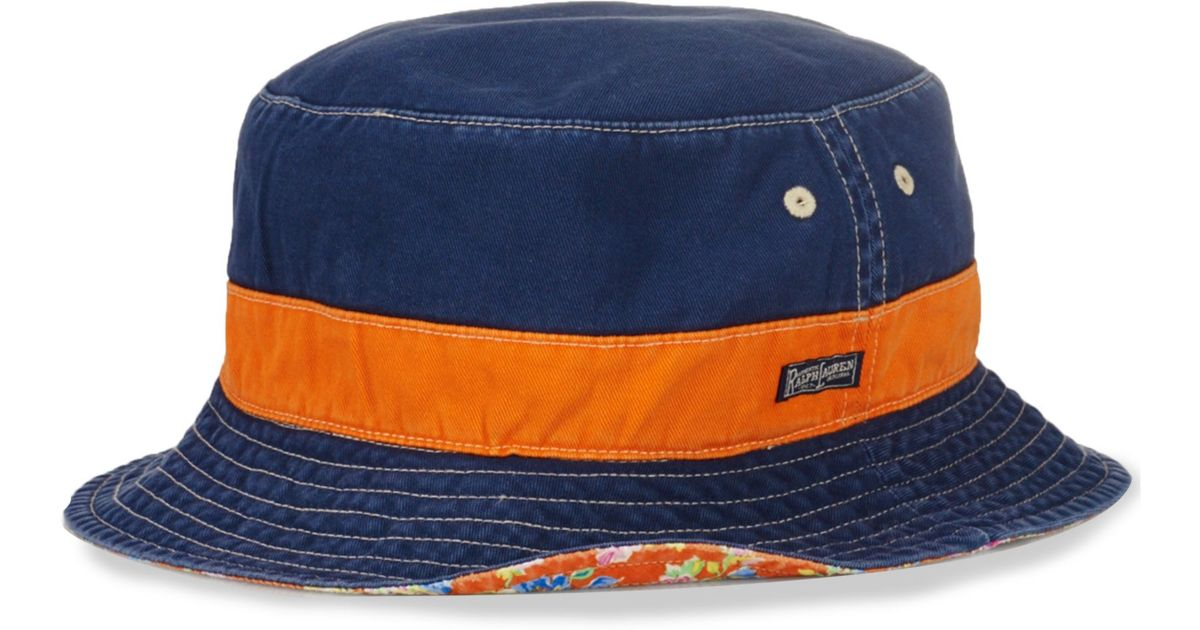 Lyst - Ralph Lauren Polo Big and Tall Reversible Bucket Hat in Blue for Men 65a40b7743f