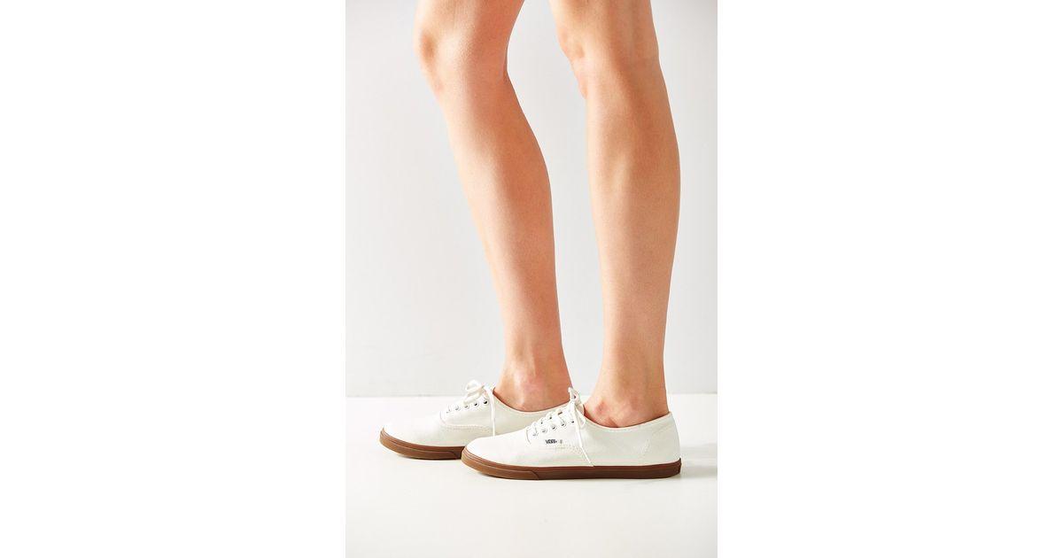 aee188df98 Lyst - Vans Gumsole Authentic Lo Pro Sneaker in White