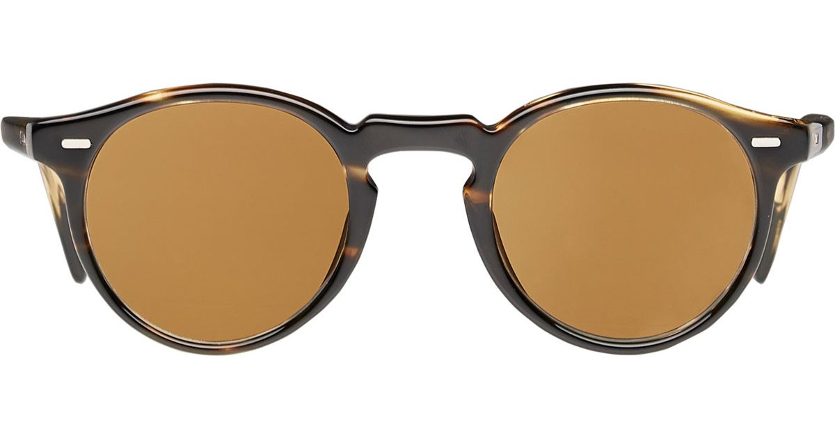 7ad77ee6ddf Lyst - Oliver Peoples Gregory Peck 47 Sunglasses in Brown for Men