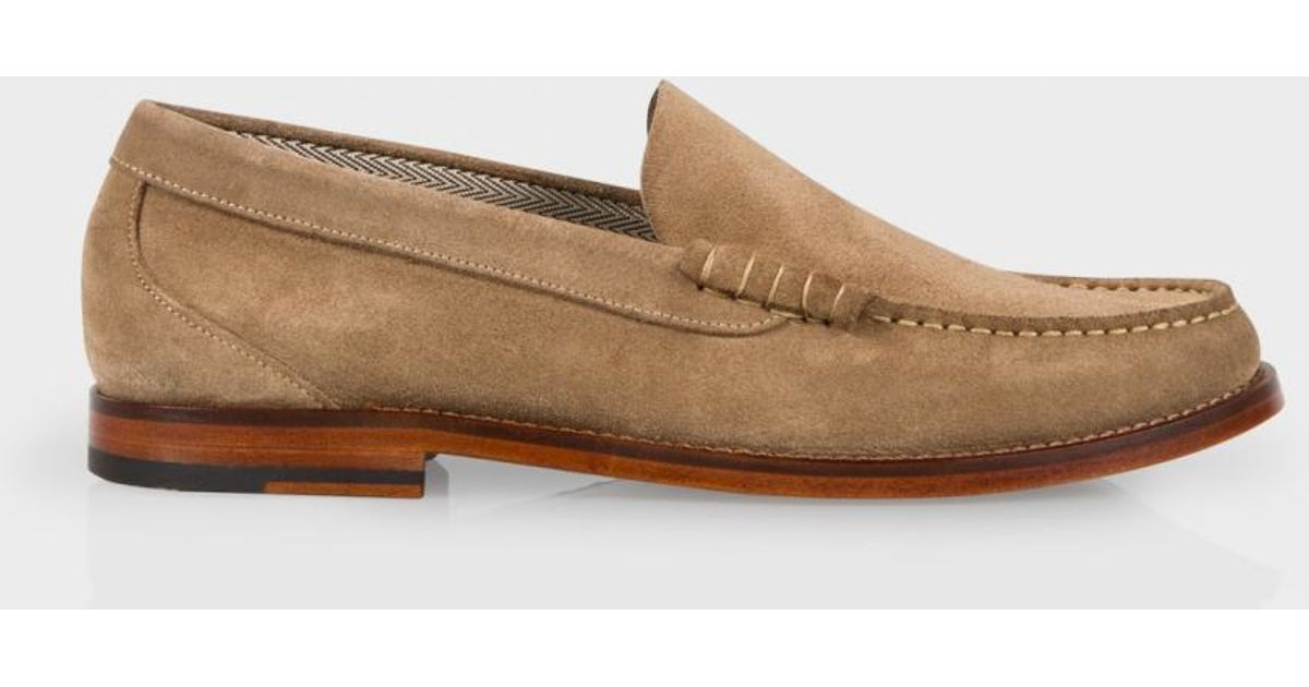 Taupe Suede 'raymond' Loafers