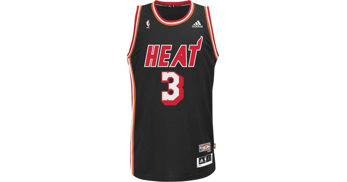 6226fccfa adidas Men's Dwyane Wade Miami Heat Revolution 30 Hardwood Classics  Swingman Jersey in Black for Men - Lyst