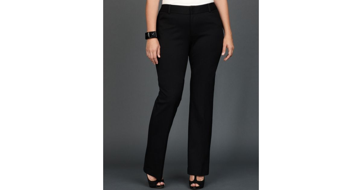 86fb72960f INC International Concepts Plus Size Slimfit Bootcut Trousers in Black -  Lyst