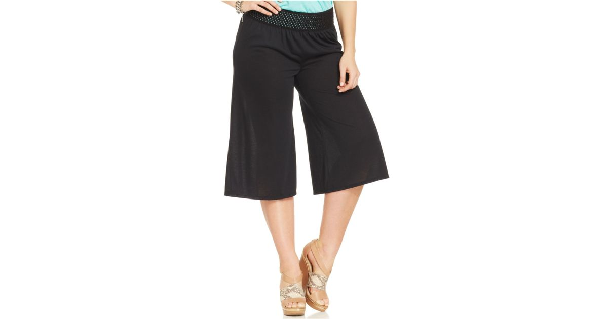 Plus Size Gaucho Pants