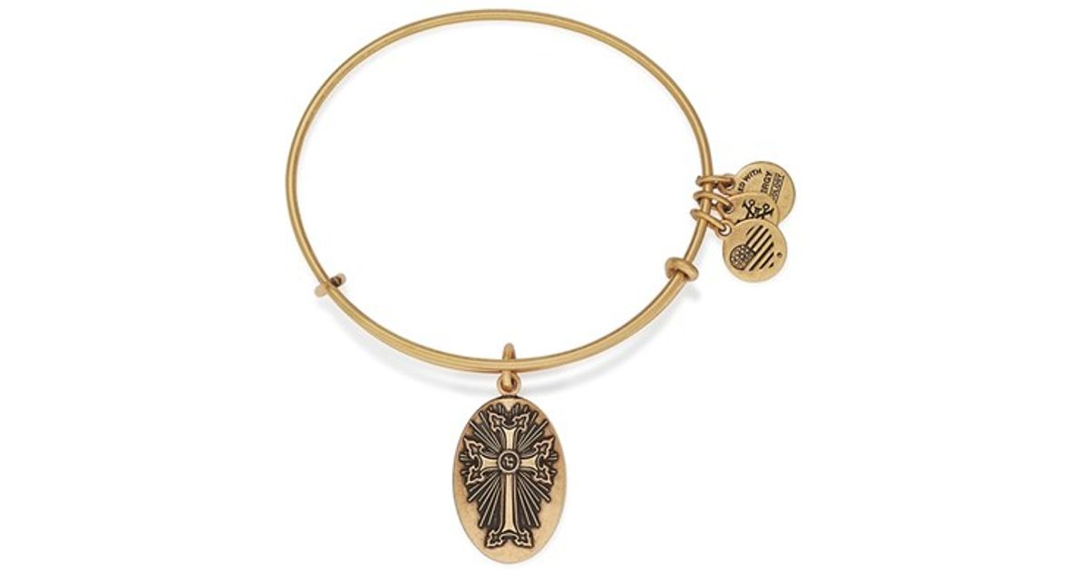 alex and ani armenian cross expandable wire bangle in