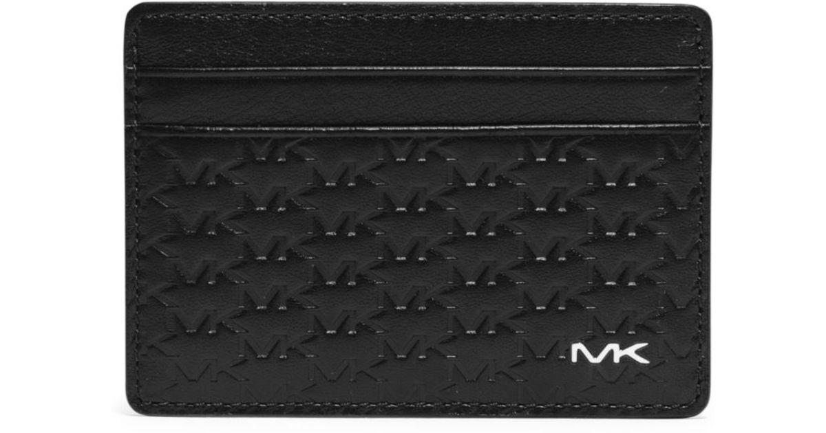 0f437bbcfcf5 Lyst - Michael Kors Jet Set Men s Logo Embossed-leather Card Case in Black  for Men