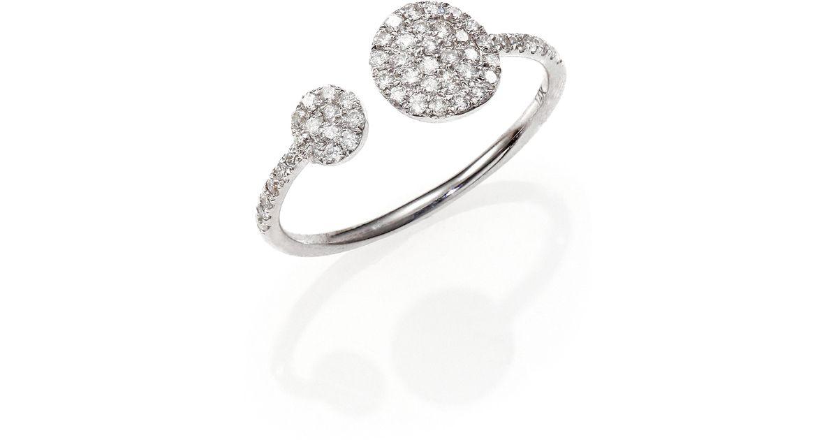 meira t 14k white gold wrap ring in white white