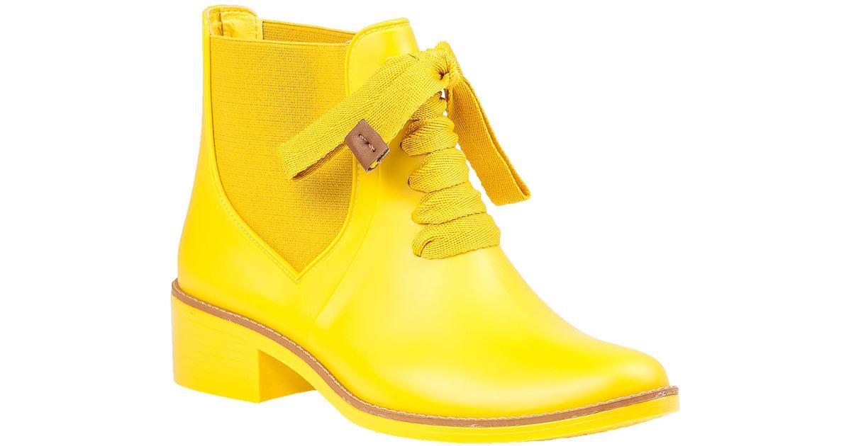 5a2484814858 Lyst - Bernardo Lacey Rain Boot Yellow Rubber in Yellow
