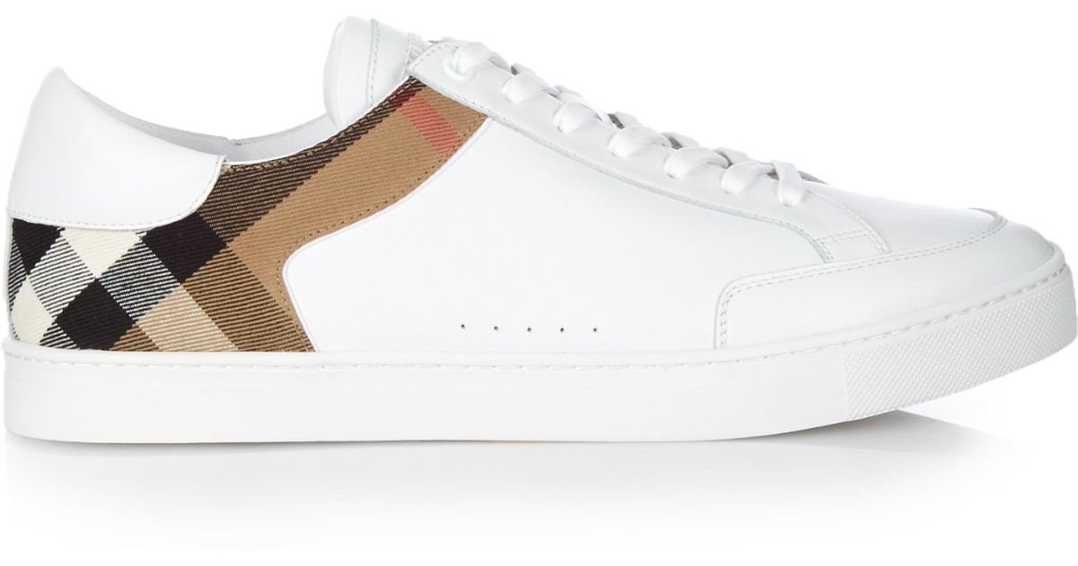 Burberry Leather House-check Low-top