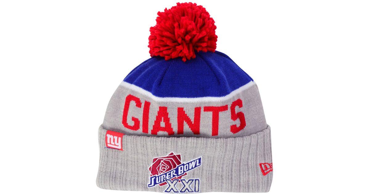 ce03faecf4b36f 50% off mens new york giants new era red sideline sport knit hat download  1efd9 d5b24