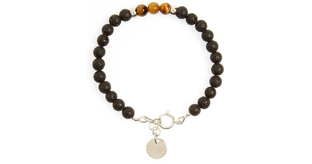 Caputo & Co  - Black 'ubud' Bead Bracelet for Men - Lyst