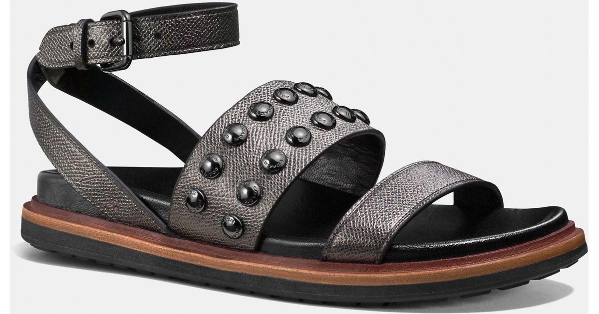 2f830497dbb7 Lyst - COACH Dannie Sandal in Metallic