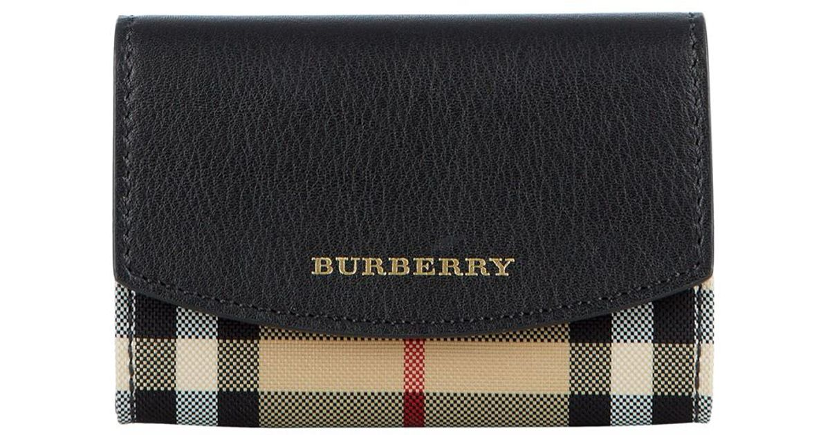 burberry chesham check card in black lyst