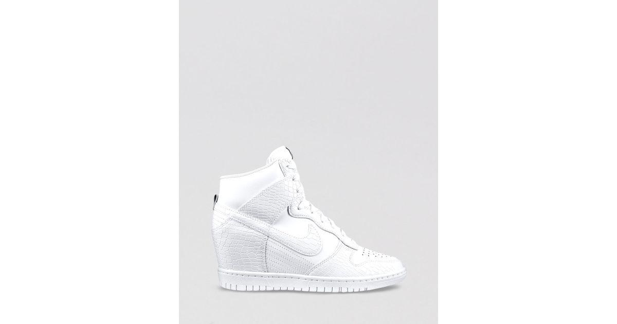 Lyst - Nike High Top Wedge Sneakers Womens Dunk Sky Hi in White bb77c9cac9e3