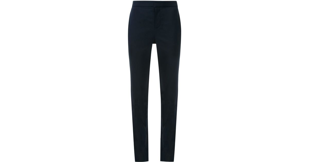 02a0aa4cb2331a Lyst - Scanlan Theodore Tailored Straight Leg Trousers in Black
